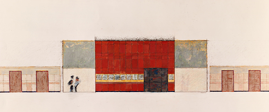 Peter Marren - Drawing AandD Building